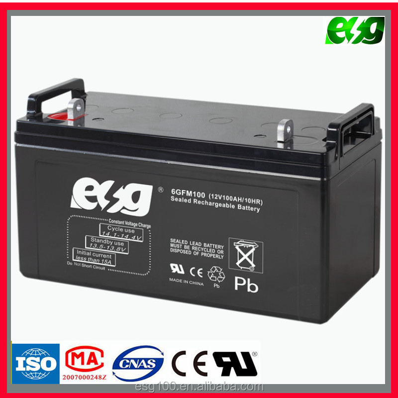 Dry battery 12v 100ah Lead acid batteries for ups