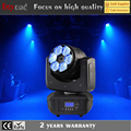 6x 4in1 rgbw 15w zoom led beam moving head wash stage lighting simulator