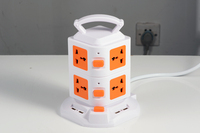 tower pin plugs,2 layers 4 USB 4.5A,portable tower socket