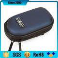 blue pu leather cover eva hard case for camera