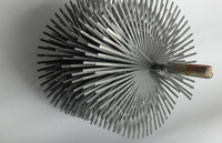 flat wire flue cleaning brush
