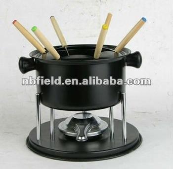 non-stick fondue set with forks,fondue,alcohol fondue set