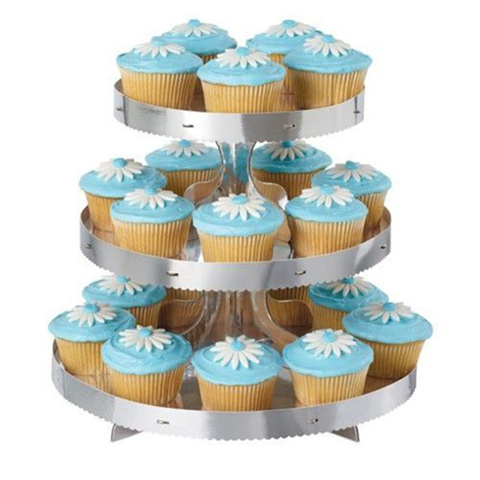 hydraulic fire cannon Dog's Footprints 2 Tier Cake Stands over sink