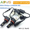 High quality 5000LM made with Philips Luxeon MZ chip H11 car led headlamp