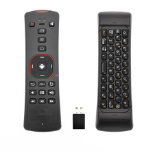 6-Axis wireless 2.4g hz remote control air mouse with qwerty keyboard for changhong tv