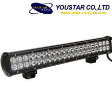 Offroad driving accessories led dual row 9-32v 126w 20 inch front bumper led work light bar