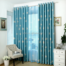 Hot selling window cortina living room sun shade blackout curtain set