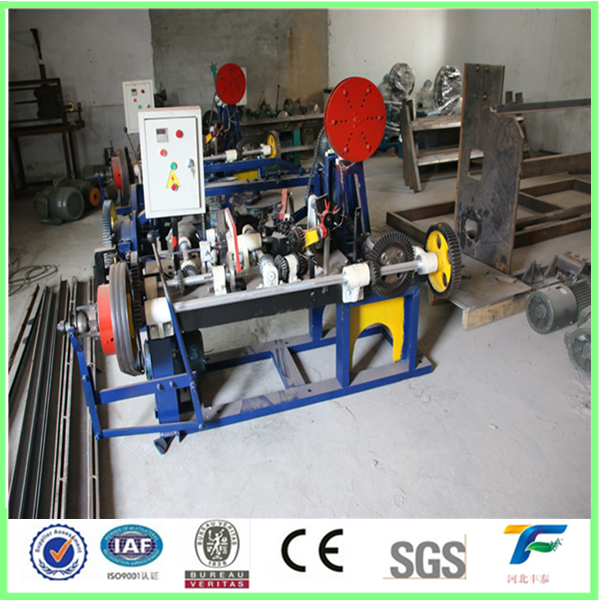 Heave duty galvanized barbed wire making machine factory supply