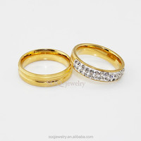 SR0728007 wholesale imitation hot style gold plated couple rings jewelry imported from china