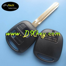 Without Logo 2 button remote blank keys with sticker for toyota keys blank keys for toyota vitz