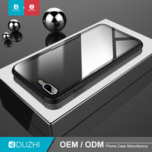 DUZHI wholesale cheap custom tempered glass case for iPhone X 360 full body transparent mobile case phone cover