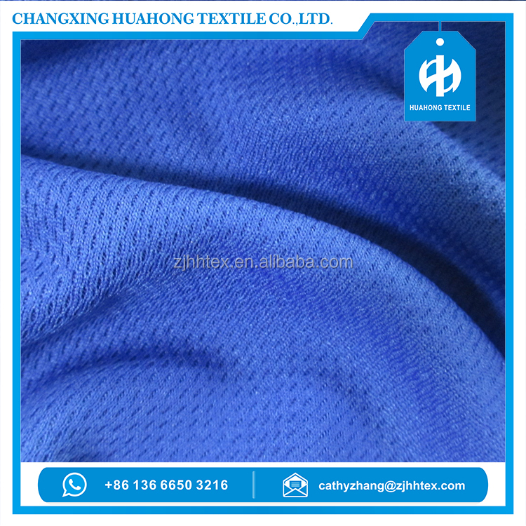 Dry fit qualtiy textile polyester bird eye mesh sport knit fabrics