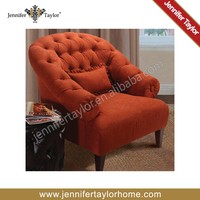 button tufted traditional accent sofa chair