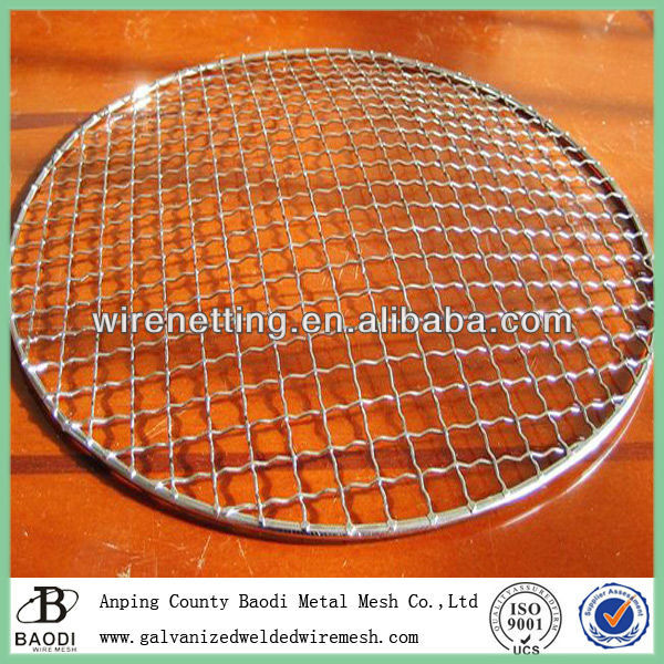 circle barbecue wire mesh (Baodi Manufacture ISO9001:2000)