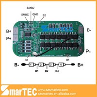 lifepo4 battery 12V 10A 30A smart BMS/PCM/PCBwith SMBUS Communicate