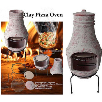 clay mini pizza oven, wood fired pizza oven