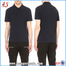 OEM Wholesale Men Dark Bule 100% Cotton Pique Plain Slim Fit Polo Shirt With Modern Shop Counter Design For Garment Store
