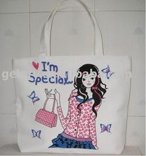 tote bags canvas cotton with zipper top closure