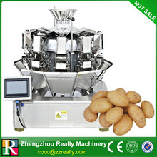 High speed high accuracy electronic ten hopper multi-head dimpled weigher