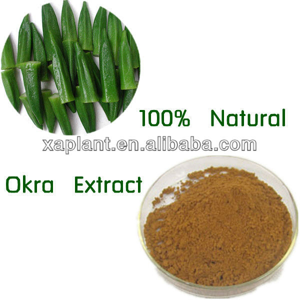 Organic dry okra extract powder