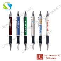 2016 promotional press metal pen with printing company logo