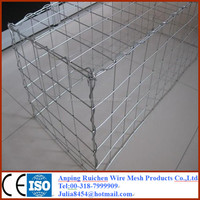 anping factory products hexagonal Gabion wire mesh basket box/Galfan/PVC coated/galvanized/welded Gabion basket