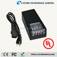 Energy Efficiency Level VI Level V 12V 5A power supply multi channel plastic for CCTV Camera