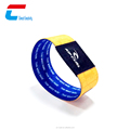 HOT SALE smart colorful reusable passive rfid wristband,disposable sport rfid wtistband