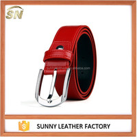 Gentleman genuine leather pin buckle belts Guangzhou suppliers