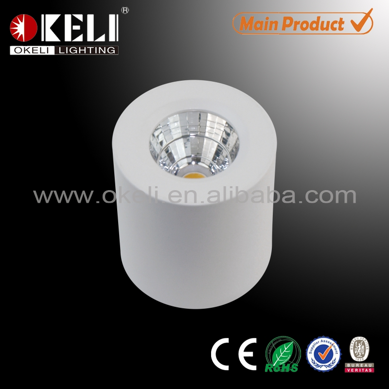Mini surface mounted led spot light for cabinet and kitchen furniture lighting