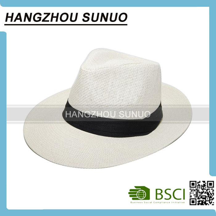 Fashion Lady Waterproof Paper Boater Cowboy Straw Hat Wholesale
