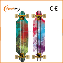 free ride canadian maple longboard skateboard with top mount