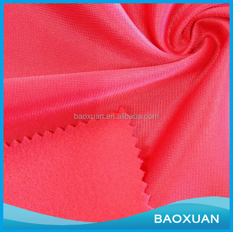 China supplier wholesale cheap poly tricot fleece super poly fabric for indian fashion garment/clothing