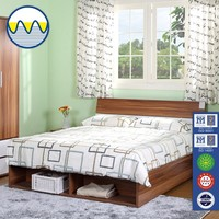Wholesale 2015 customized high quality teak wood double bed designs