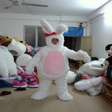 Hola white rabbit carnival costume adult/bunny costume