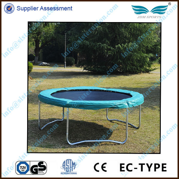 2014 best selling safety outdoor gymnastics 10 trampoline with spring cover