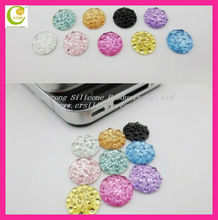 Various 2013 Rhinestone Crystal Diamond Home Button Colorful Bling Sticker for apple iphone 4 4S 5 Wholesale