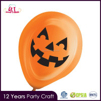 "10"" Orange Pumpkin Halloween LED Balloons Light Up"