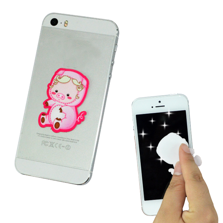 Promotional sticker mobile phone screen cleaner