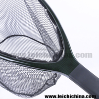 Rubber coated nylon bag fly fishing carbon landing net