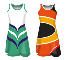 Promotional custom sublimation women netball dress netball uniforms Cheap Netball Jersey Skirts Dresses