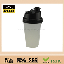 500ml plastic vacuum travel shaker mug cup item No.SHK-015 white color with black lid