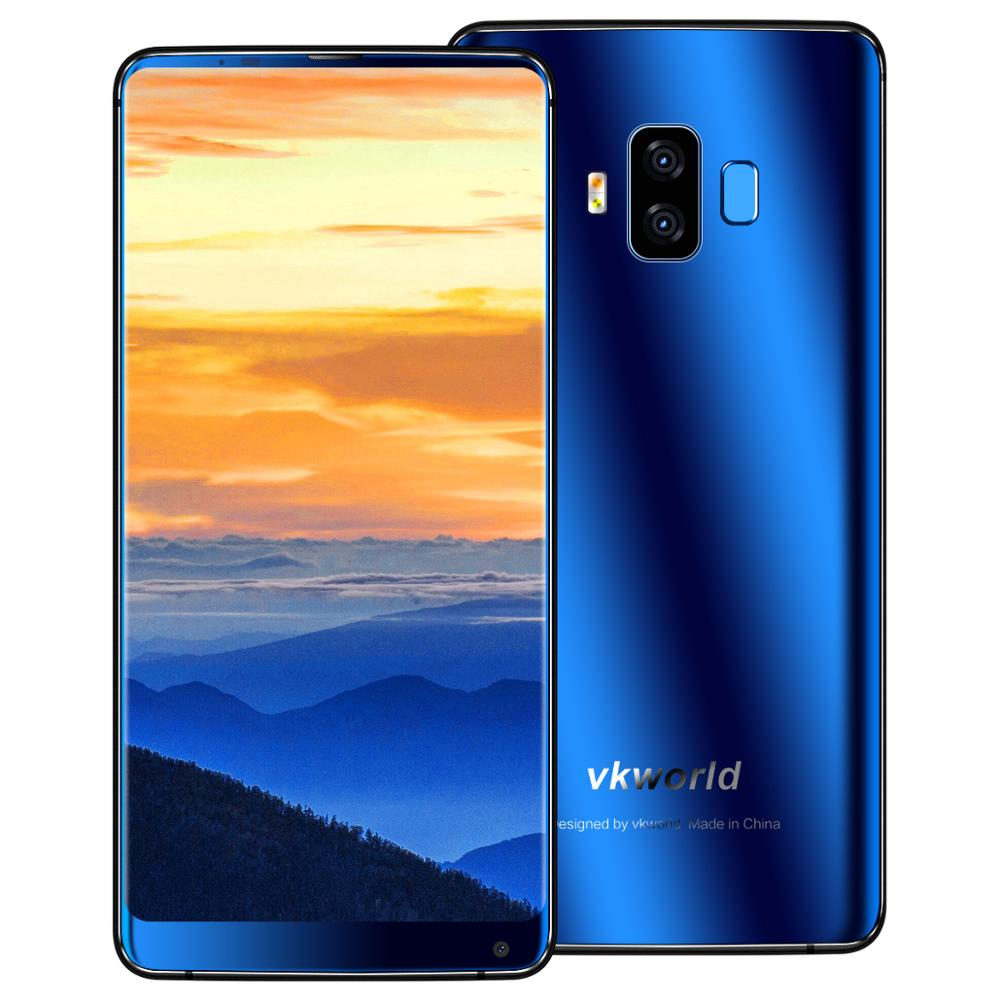 Free Shipping VKWORLD S8 5.99 inch FHD Face Recognition 4G+64G Big Battery Android 7.0 Smartphone 4G Fingerprint Mobile <strong>Phone</strong>