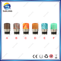 Hot selling acrylic resin +stone drip tips, smoking vaporizer drip tips ego, mini 510 drip tip