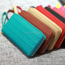 Zipper wallets long style big capacity cheap women wallets with low moq