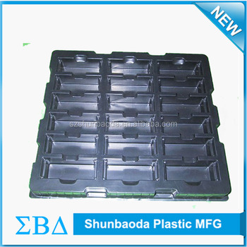 China Supplier Custom Black ESD Trays plastic blister packaging wholesale