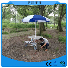 Aluminum Metal Type and Outdoor Furniture General Use Aluminum Folding Table And Chair