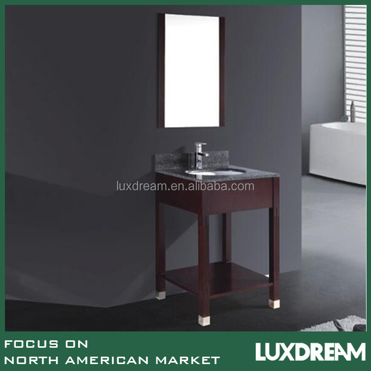 Slim Bathroom Vanity with Solid Wood Legs