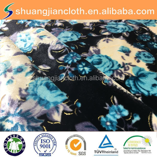 creative style fashion fabrics polyester Korea velvet fabric