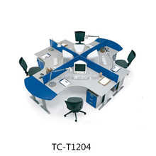 Best price four people office cubicle workstation office low partition